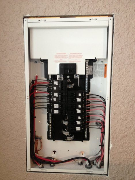 Electrical sub panels installation