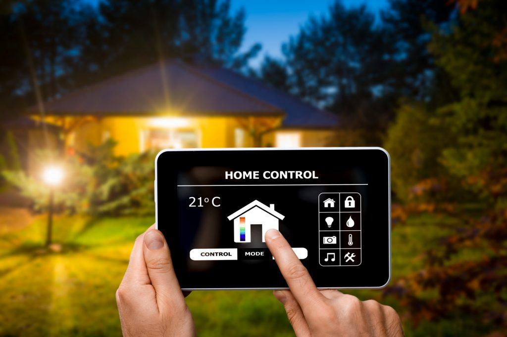 smartphone modern home thermostat